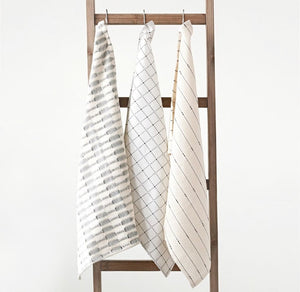 Cotton Tea Towels Set/3 - 18 x 28in