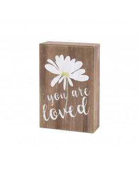 """You Are Loved"" Flower Sign"