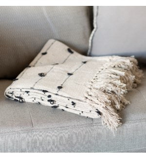 White Cotton Throw
