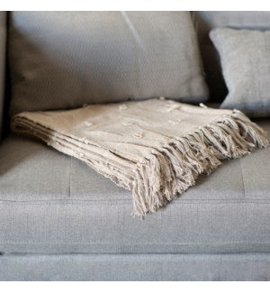 Beige Cotton Throw