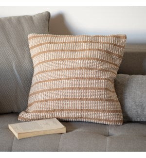 Beige Cotton Pillow Cover