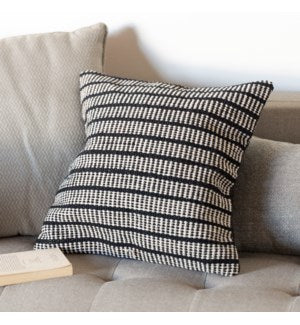 Black Cotton Pillow Cover