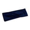 Navy Blue Solid Knotted Headband
