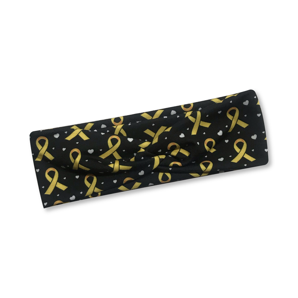 Childhood Cancer Awareness Knotted Headband