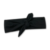 Solid Black Tied Headband