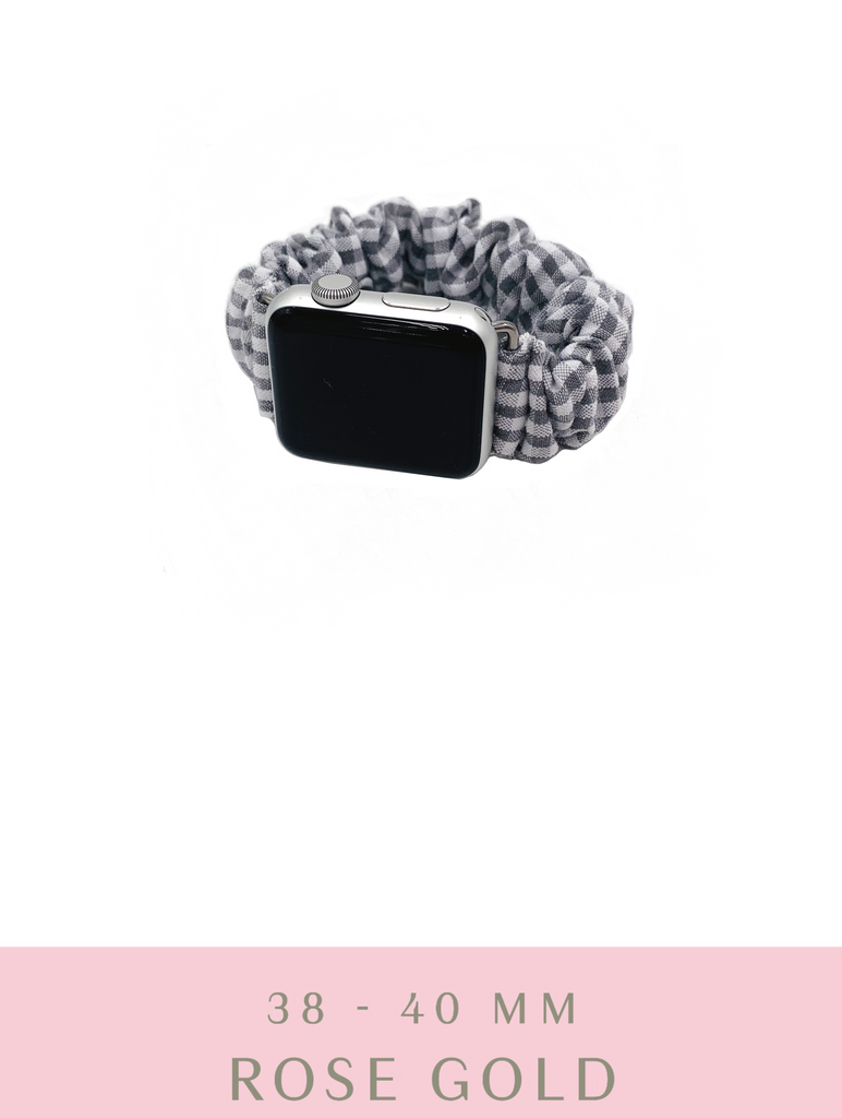 Grey Gingham Apple Watch Band