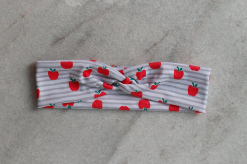 Apple picking knotted headband, perfect for end of the year teacher gifts