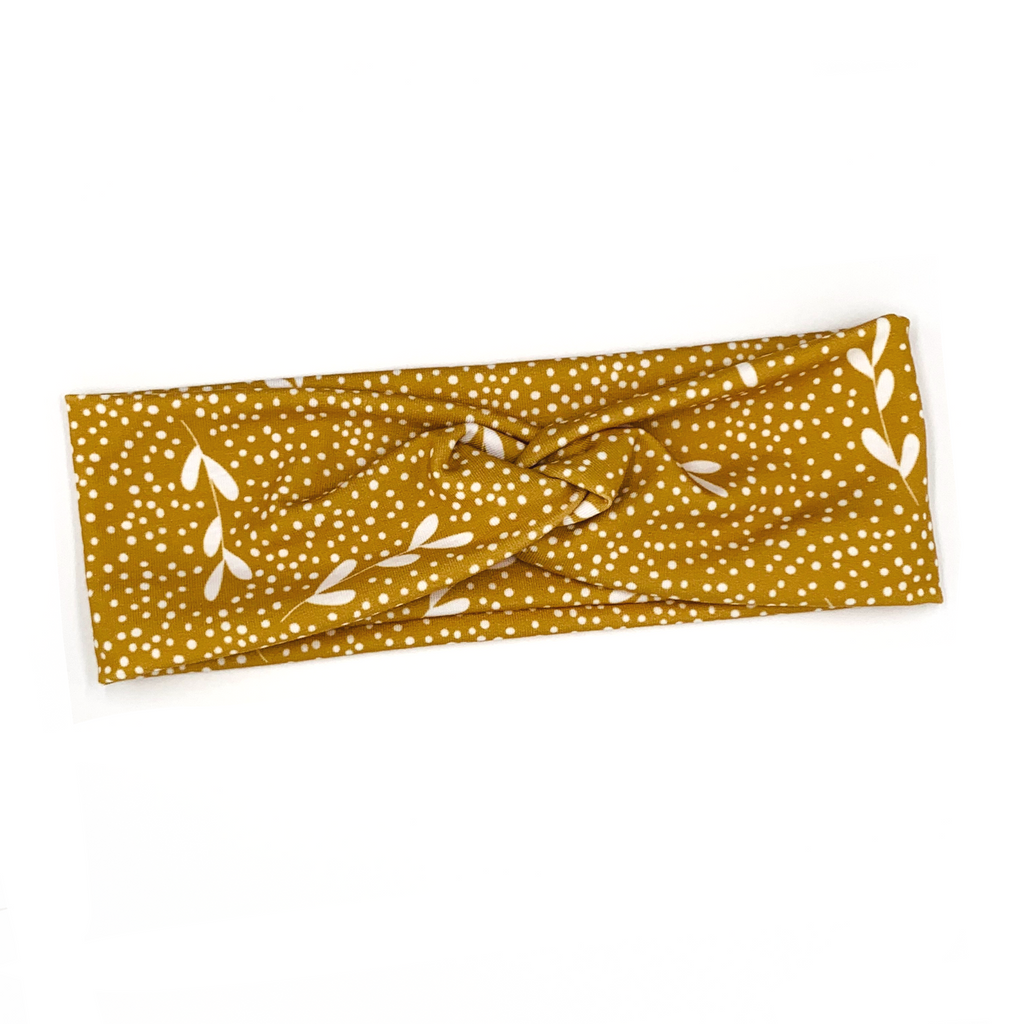 Marigold Dots Knotted Headband