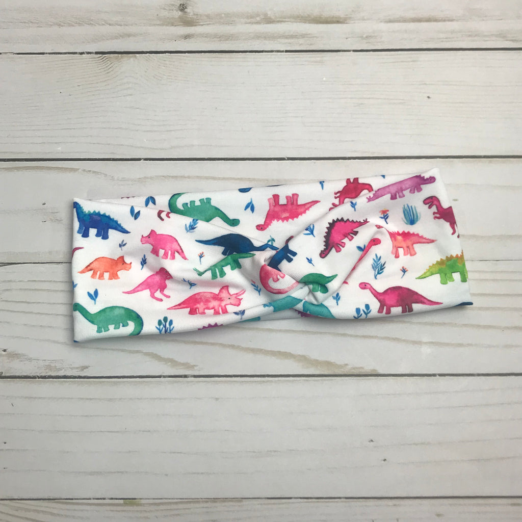 Dinosaur Stomp Knotted Headband