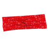 Red Snowflake Knotted Headband