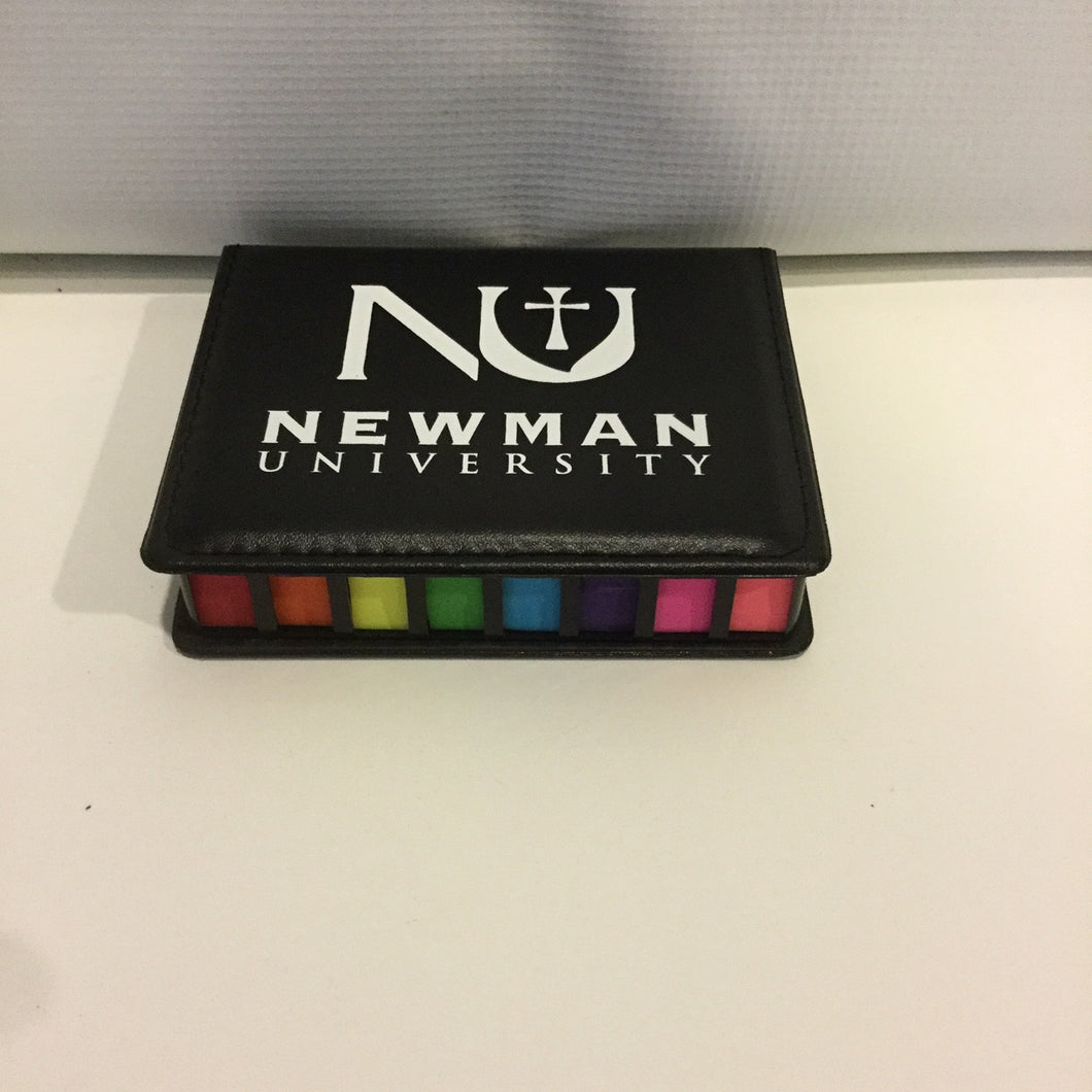 Newman Sticky Notes with Leather Case