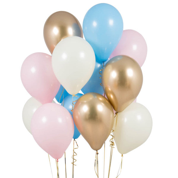 14 Gender Reveal Latex Balloons