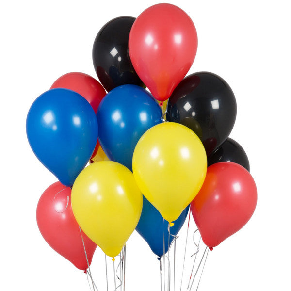 14 Superhero Latex Balloons