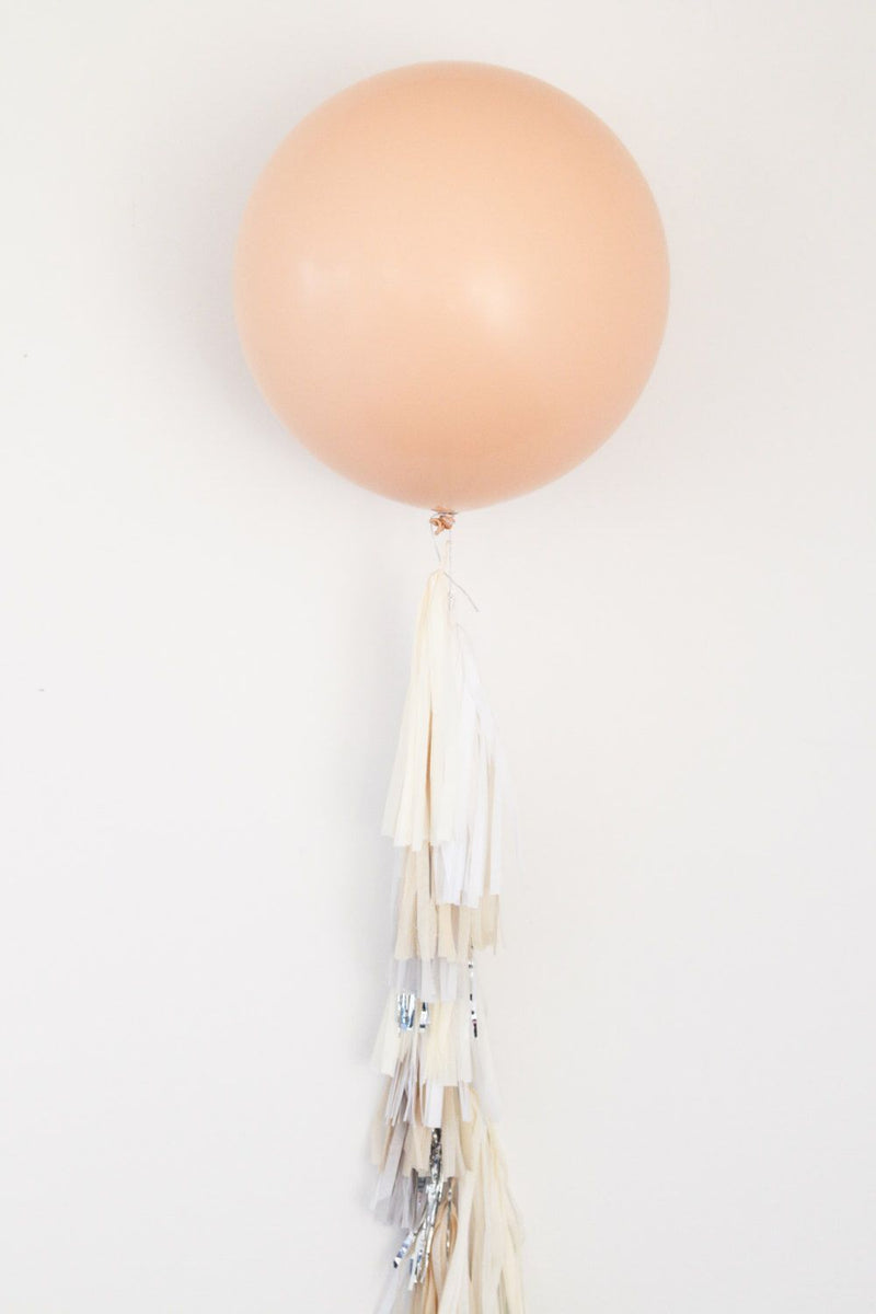 Beige Balloon With  Tassels