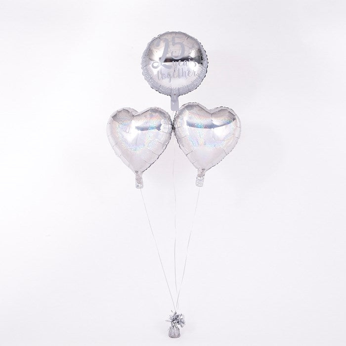 25th Anniversary Silver Wedding Romantic Balloon Bouquet