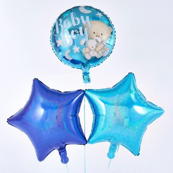 Baby Boy Blue Balloon Bouquet