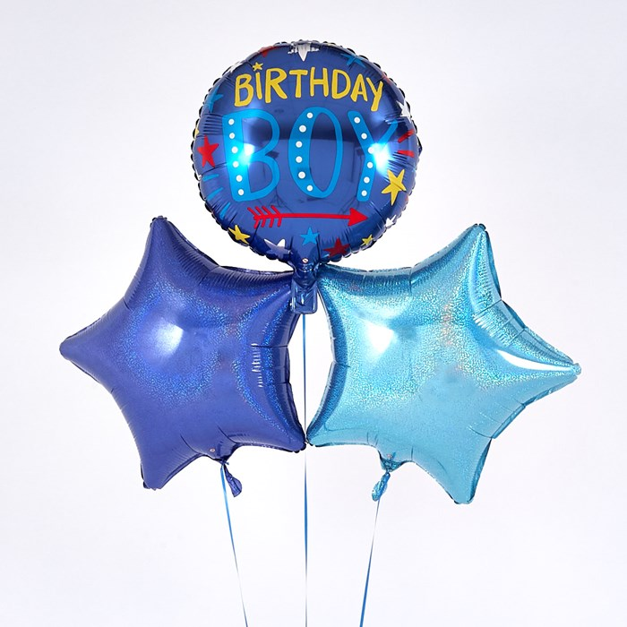 Birthday Boy Blue Balloon Bouquet