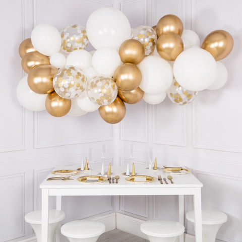 Gold and Silver Balloon Cloud