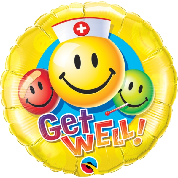 Get Well Smiley Faces Balloon Bouquet