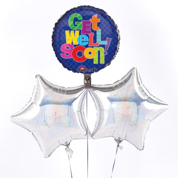 Multi Pattern Get Well Balloon Bouquet