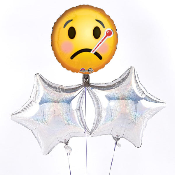 Emoticon Get Well Balloon Bouquet