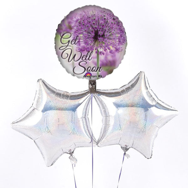Get Well Floral Balloon Bouquet