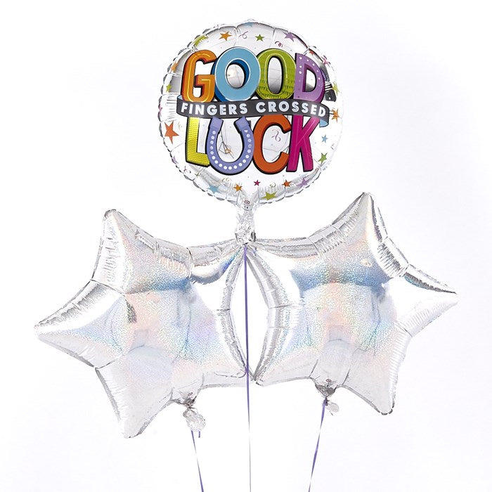 Good Luck (Fingers Crossed) Silver Balloon Bouquet