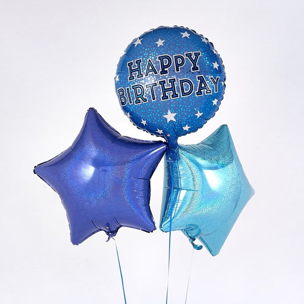 Happy Birthday Blue Balloon Bouquet