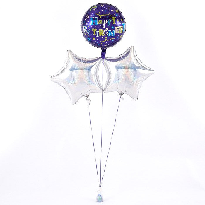 Happy Retirement Silver Balloon Bouquet