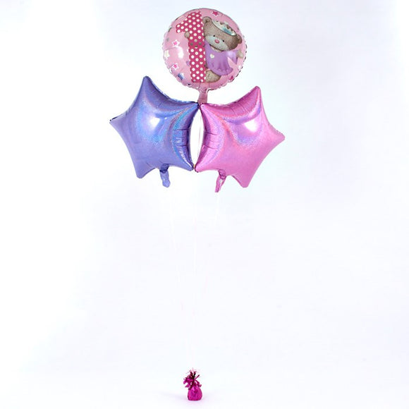 Hugs 1st Birthday Pink Balloon Bouquet