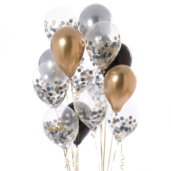 14 Glitz and Glam Confetti Balloons