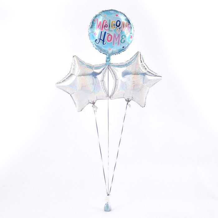 Welcome Home Silver Balloon Bouquet