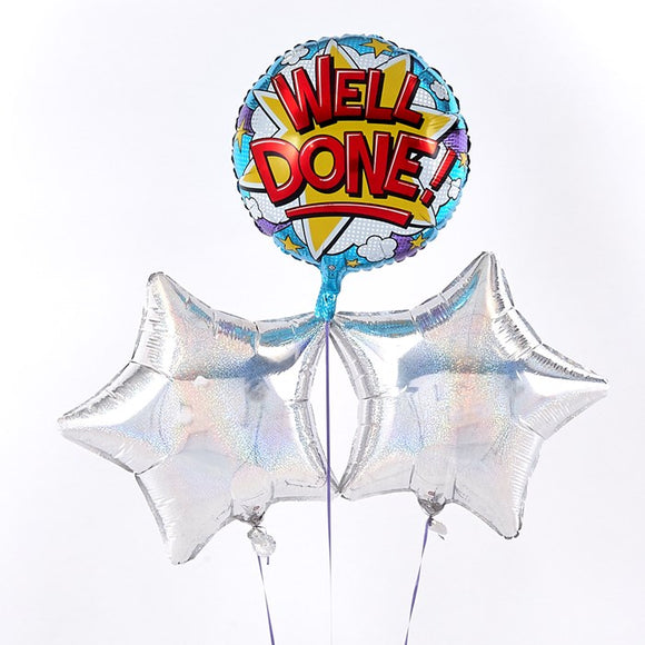 Well Done Silver Balloon Bouquet
