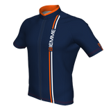 Blade short sleeve jersey - Navy Blue/Orange/White