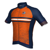 Bomb short sleeve jersey - Navy Blue/Orange/White