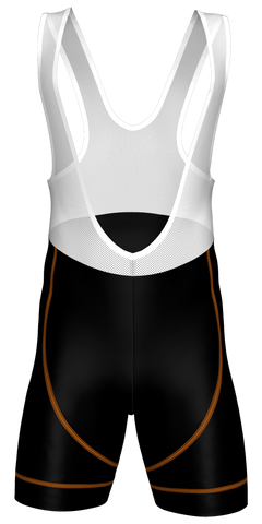 Flex Bib Shorts - Black/Orange