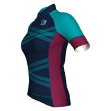 Grace Short Sleeve Jersey - Navy Blue/Bordeaux/Teal