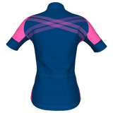 Grace Short Sleeve Jersey - Blue/Pink