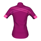 Grace Short Sleeve Jersey - Bordeaux/Pink