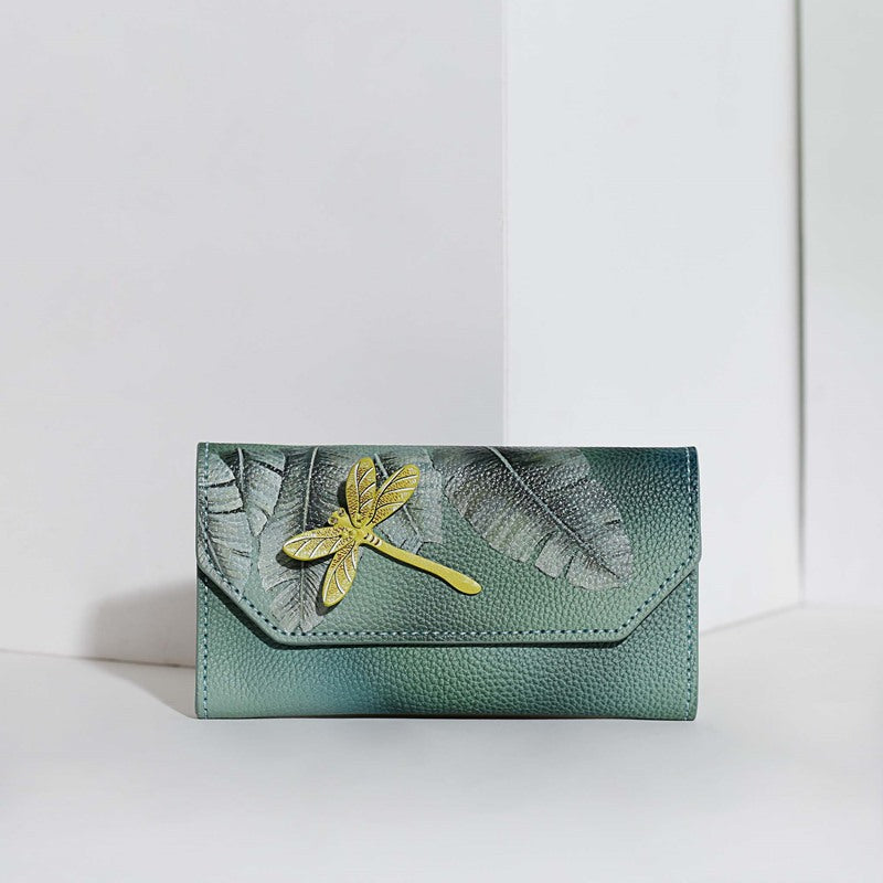 Dragonfly Leather wallet for women