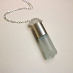 Shine like a Herkimer Diamond | Roller Bottle Necklace
