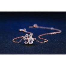 Load image into Gallery viewer, Rose Gold Paw Bracelet