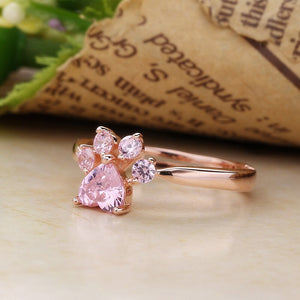 Rose Gold Paw Ring