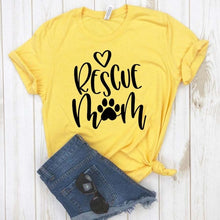 Load image into Gallery viewer, Paw Rescue Mom T-Shirt