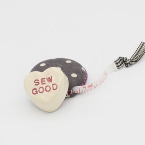 Ceramic Sewing Conversation Heart