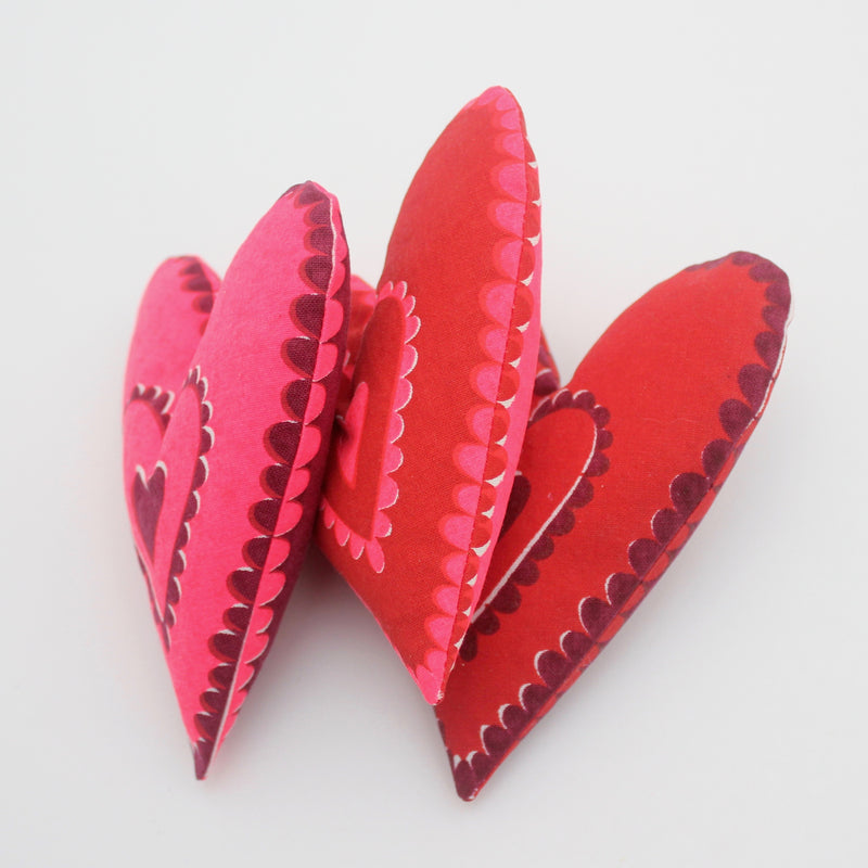 Kit-Hand Printed Heart Sachets