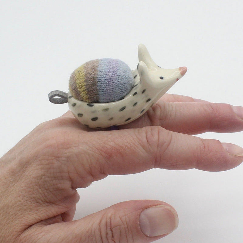 Ceramic and Wool Animal Ring Pincushion Sidekick