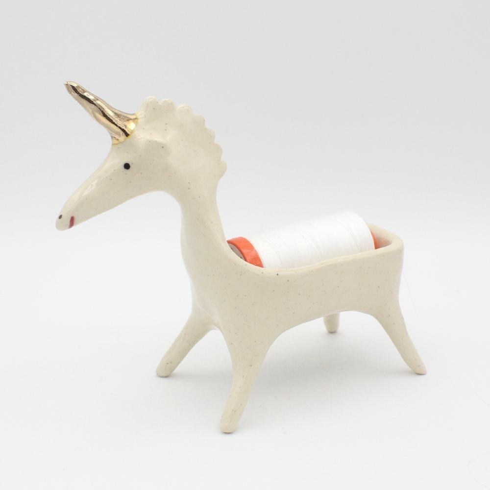 Ceramic Thread Pooping Unicorn