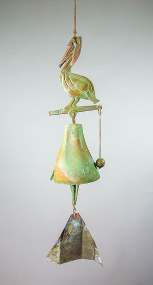 #185SP - Care For Wildlife-Pelican Bronze Windbell
