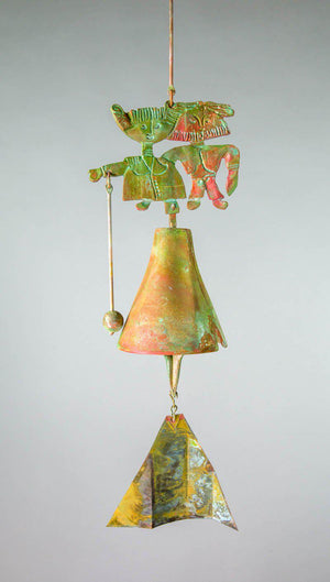 #194BG - The Wedding Bronze Windbell (Bride and Groom)